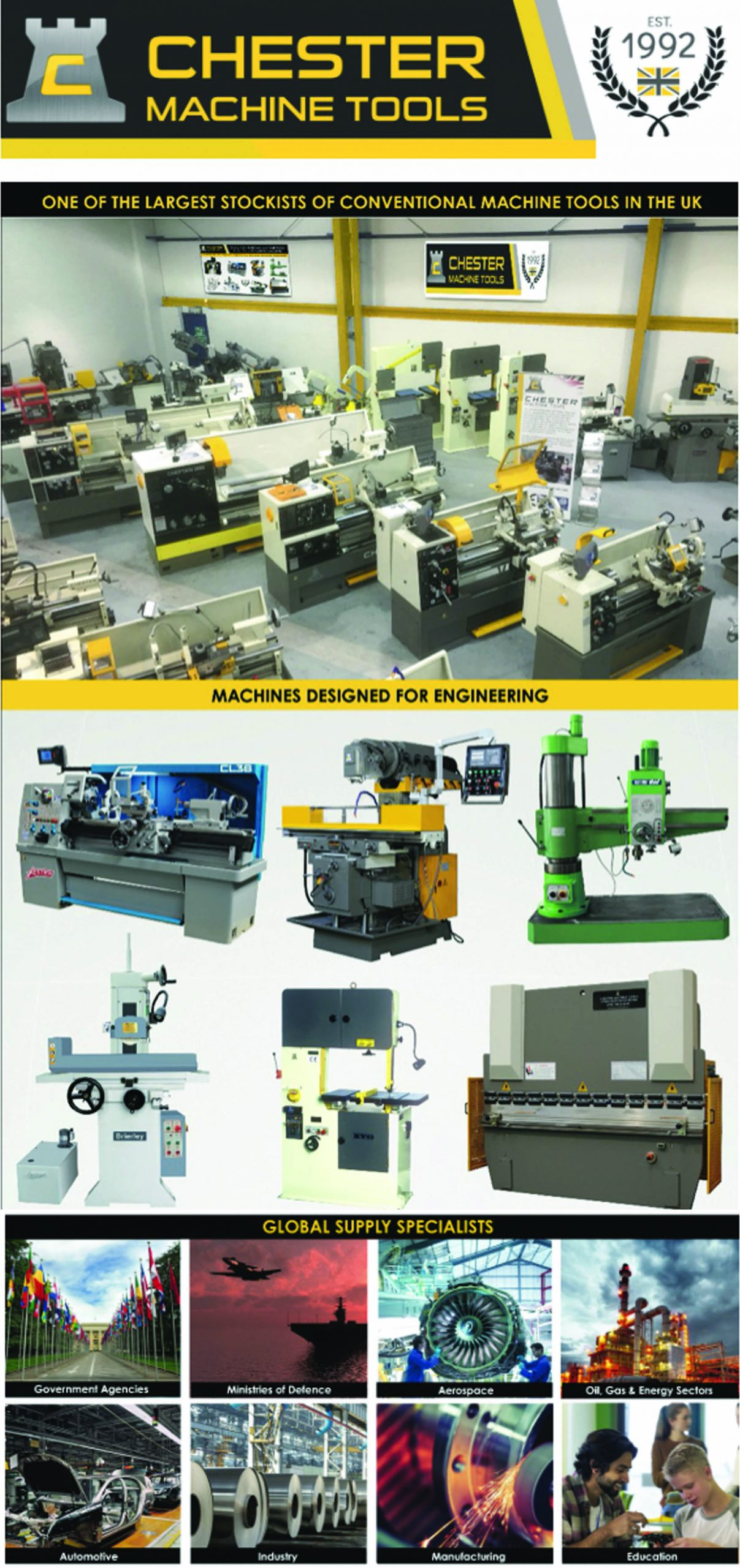Global Machine Tool Suppliers – Export Specialists