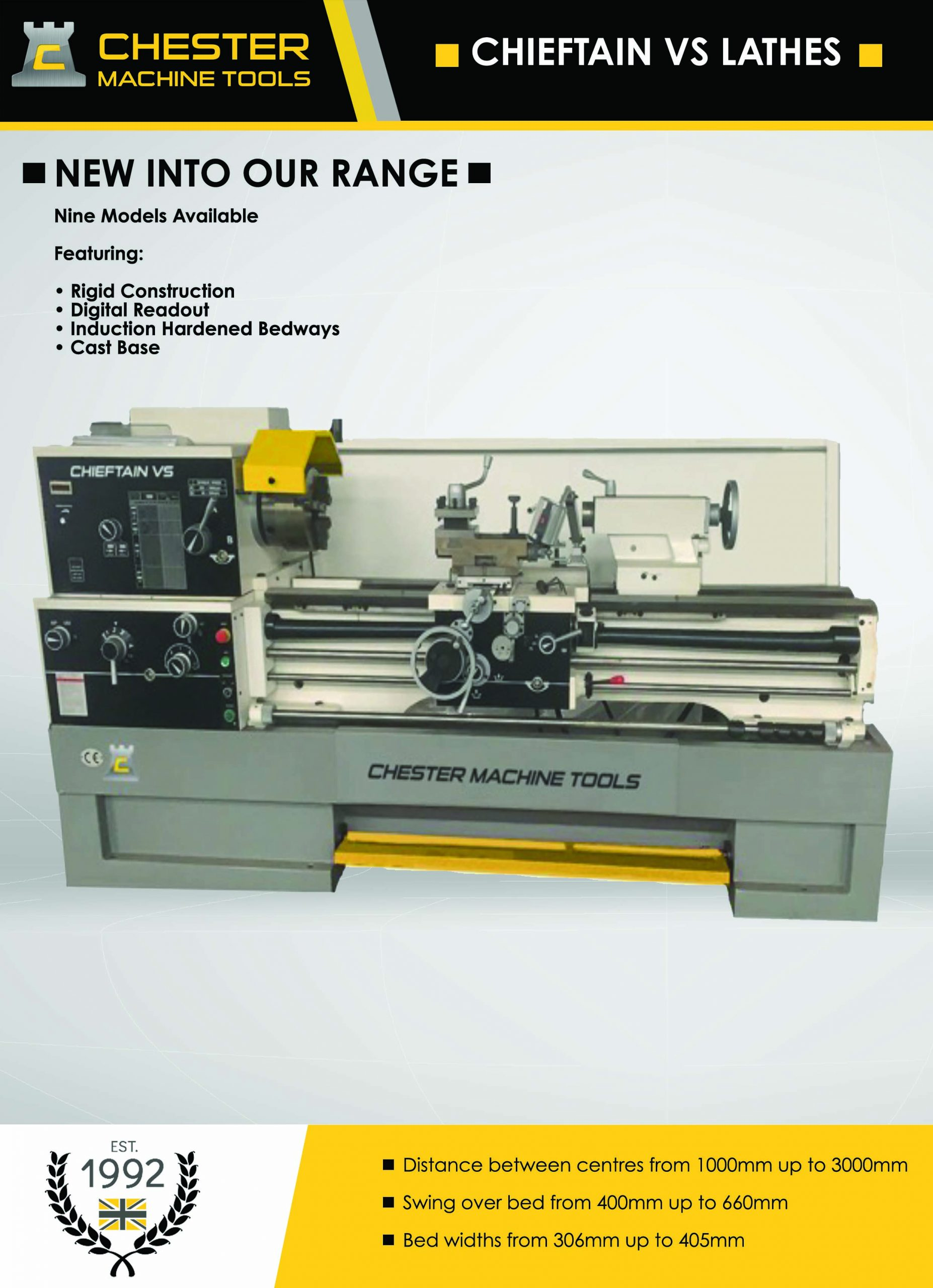 Precision built industrial metal working manual lathes