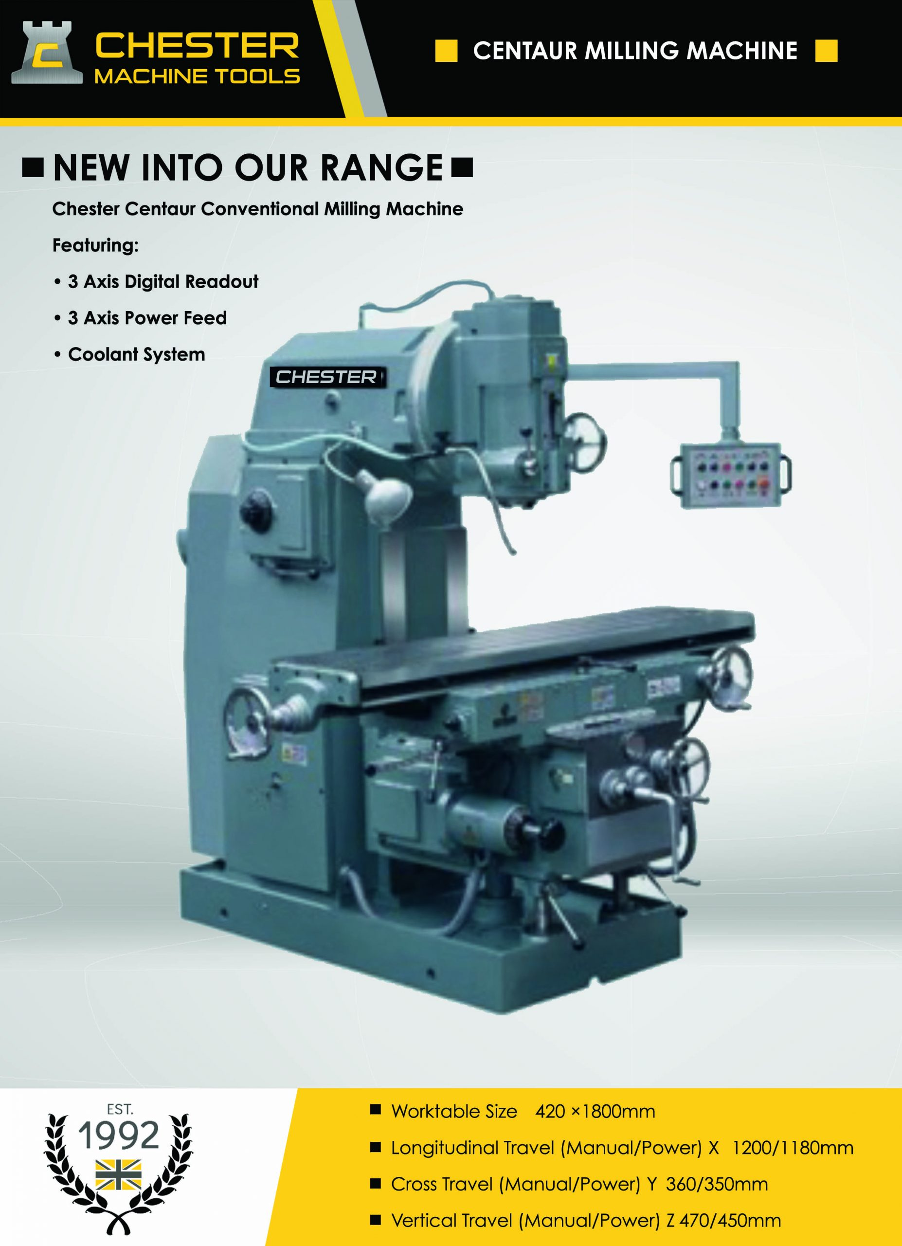 Capacity Conventional Milling Machines – Chester Centaur The Debut