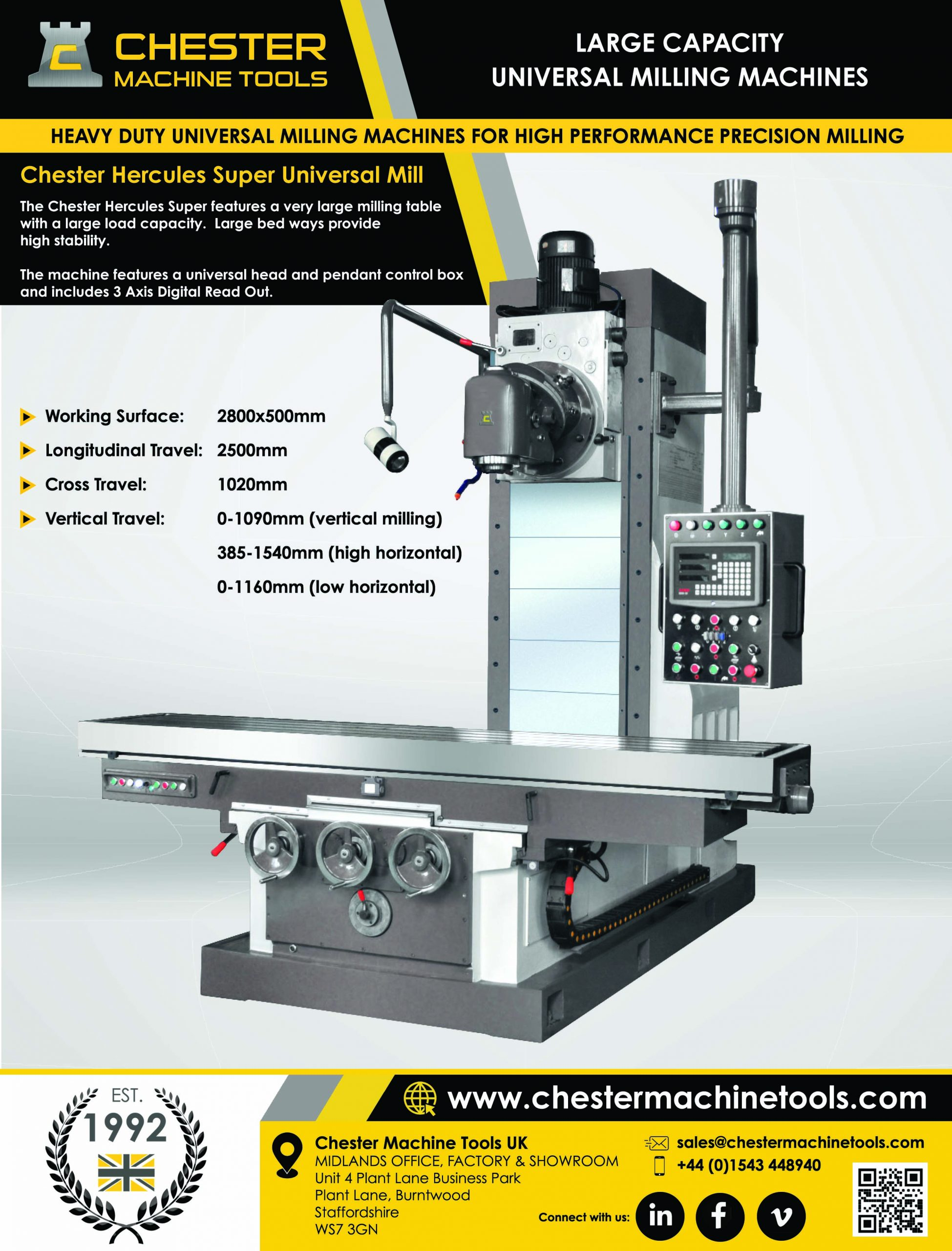 Heavy Duty Universal Milling Machines
