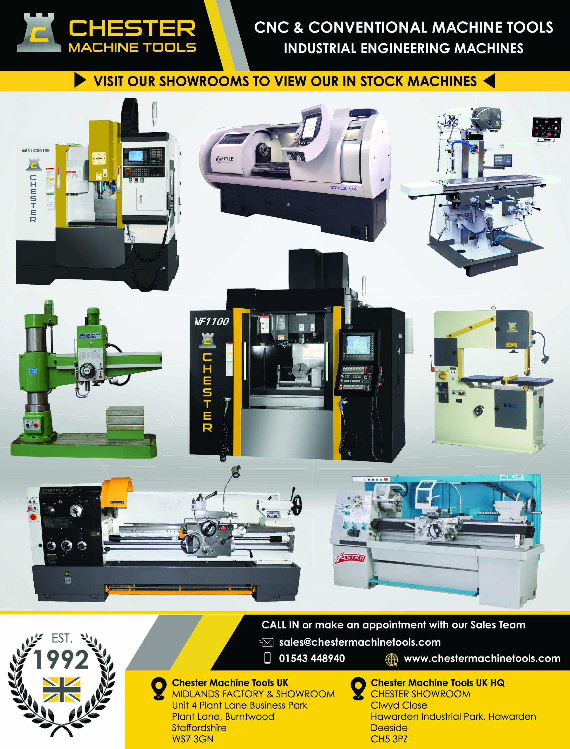 Our UK Machine Tool Showrooms Are Open